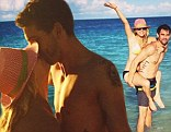Can't wait for the honeymood! Kaley Cuoco and her fiance Ryan Sweeting put their love on display in a series of Instagram snaps from their Bahamas holiday