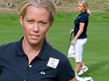 She's starting to show! Pregnant Kendra Wilkinson reveals her tiny baby bump as she dresses ultra conservatively at celebrity golf tournament