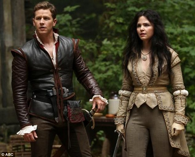 True love on and off screen: Ginnifer and co-star and finace Josh Dallas play Snow White and Prince Charming in the show