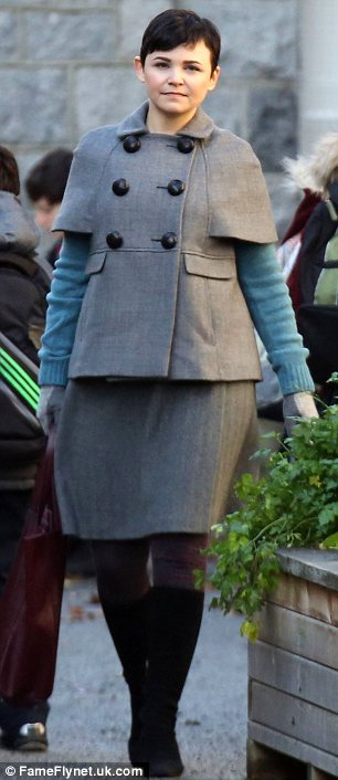 Frumpy! She's known for her sense of style but actress Ginnifer Goodwin looked dowdy on the set of Once Upon A Time in Canada on Thursday