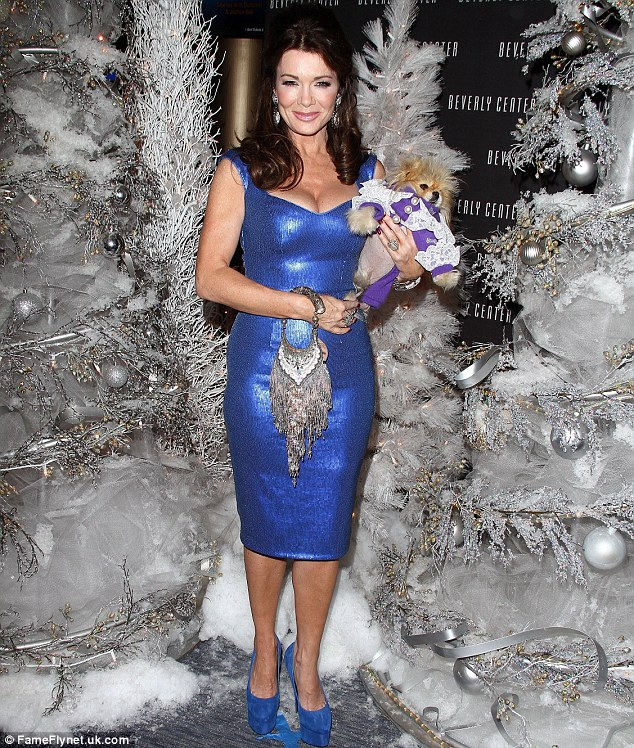 Lovely pair: The reality television personality and her pet Giggy were the perfect couple