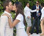 Was it magical? Gerard Butler was aggressively kissed by a mystery brunette at The Setai Miami Beach Hotel in Miami, Florida on Tuesday