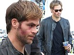 What did they do to your pretty face? Chris Pine looks battered and bruised on set of Horrible Bosses 2