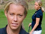 She's starting to show! Pregnant Kendra Wilkinson reveals her tiny baby bump as she tees off at golf tournament