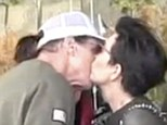 Give him a Kris! Bruce certainly seemed to be happy to smooch his estranged wife after a day at the movies