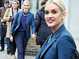 There's nothing blue about her: Ashley Roberts beams as she leaves ITV studios in stunning outfit