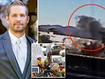 New security footage released today raises the horrifying possibility that Paul Walker was trapped inside his car for up to a minute before the fireball which engulfed his Porsche Carerra GT took hold.
