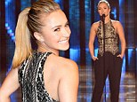 Wearing the trousers! Nashville Hayden Panettiere is strides ahead in sexy black at CMT event in Nashville