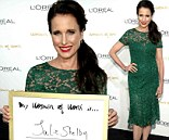 She's worth it! Andie MacDowell glowed in an emerald green dress as she attended L'Oreal Paris' Women of Worth 2013 at The Pierre Hotel in New York City on Tuesday