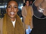 Where's the ring? Kelly Rowland entered the Today Show studios in New York on Tuesday, with her left hand obscured beneath her scarf