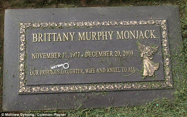 At peace: Brittany Murphy's grave site in Los Angeles