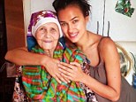 'My angel, my love': Supermodel Irina Shayk (right) has returned to her native Russia to be with her 89-year-old grandmother Galina Shaykhlislamova (left) who is reportedly in a coma after falling ill