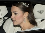 Glittering: The stunning tiara is thought to have belonged to the Queen Mother