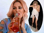 Drinking defense: Brandi Glanville, shown last month sipping from a cocktail bottle, defended her drinking on Tuesday during her podcast