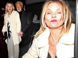 Kate Moss attends the Playboy 60th Anniversary celebration in London with Tom Jones