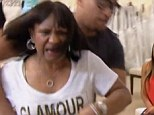 This should be family only! Mama Joyce had to be restrained as she demanded Kandi's assistant Carmon be removed from her daughter's wedding dress fitting