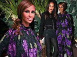 Lovely in lavender! Iman, 58, gives number one model in the world Joan Smalls a run for her money in stunning purple floral jumpsuit at ELLE dinner