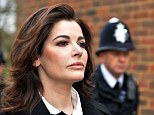 'Heart-broken': Nigella Lawson arrives at court where she will be asked about the breakdown of her marriage to Charles Saatchi. He said that he still 'adores' her
