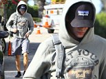 Keeping a low profile: Zac's been seen out in Hollywood with a baseball cap on, for the second time since his accident