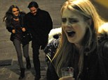 Cara Delevingne enjoys a night out in Rome with The Face Of An Angel co-star Daniel Bruhl