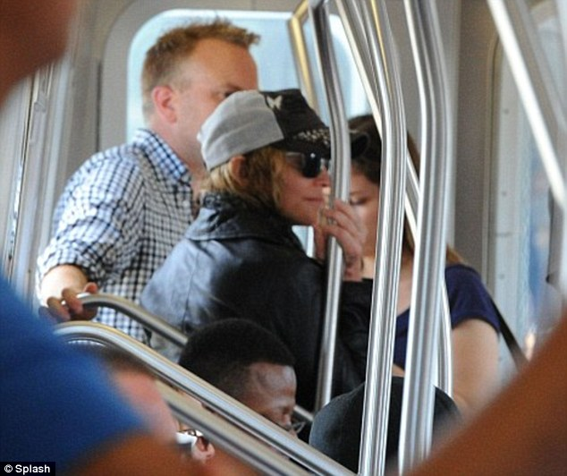 Seal of approval: Queen of pop Madonna has even been known to hop on the subway in the past