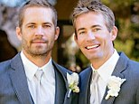 Poignant: One of the last pictures of Paul Walker, as he celebrated the wedding of his beloved younger brother Caleb in October