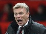Major blow: Manchester United manager David Moyes looks unlikely to retain the Premier League title