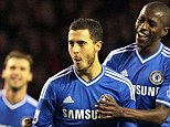 Warning: Hazard (centre) put in a man of the match performance with two goals and an assist against Sunderland