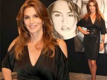 Time is on her side! Cindy Crawford, 47, defies her years in sexy black cut-out frock at Art Basel exhibit