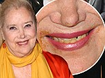 Need a napkin? Sally Kirkland, 72, steps out with a little dinner on her lips