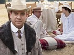 A festive treat! Paul Giamatti joins Downton Abbey as Lady Grantham's brother for the Christmas special