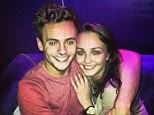 Candid: Daley with female friend Nikita Ross