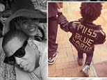 Mommy and daddy's little rock chick! Beyonce and Jay Z's daughter steps out in 'Miss Blue Ivy' monogrammed jacket and tiny floral Doc Martens
