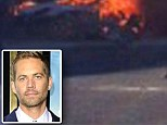 The video shows no smoke rising from the wreck in the immediate aftermath of the crash which claimed the Fast & Furious star's life and that of driver, Roger Rodas.