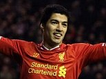 Star man: Luis Suarez has smashed 13 goals in just 10 games for Liverpool