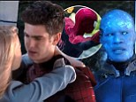 FIRST LOOK: Andrew Garfield's web-slinger battles Jamie Foxx's sinister Electro in The Amazing Spider-Man 2 trailer (but there's still time to kiss Emma Stone)