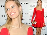 That dress is out of this world! Leggy Karolina Kurkova dazzles in space age red frock at Design Miami art event
