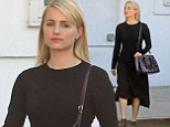 Dianna Agron looks sleek and simple in a LBD after salon visit... amid claims she's set to return to Glee for 100th episode