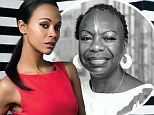 'I can¿t worry about being black enough': Zoe Saldana hits back at critics who knocked her for being cast as iconic singer Nina Simone