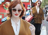 Keeping abreast of fashion! Curvy Christina Hendricks looks great as she goes on shopping spree