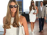 White hot! Elle Macpherson shows off her impeccable supermodel figure in tight mini dress as she hits Art Basel with husband Jeffrey Soffer