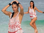 Adriana Lima shoots a new campaign in Cancun, Mexico