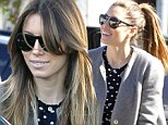 Fringe benefits! Jessica Biel shows off new layered look after arriving at salon with her frizzy locks in a ponytail