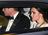 kate and william leaving