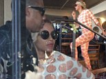A very happy birthday! Jay Z celebrates turning 44 with stunning Beyoncé by his side as they enjoy a healthy vegan lunch