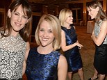 Mothers in arms! Reese Witherspoon shares a hug with Jennifer Garner at Children's Defense Fund event