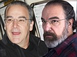 Something missing: Homeland star Mandy Patinkin, shown with beard in March, and without it on Thursday in New York City