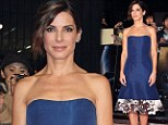 She does it again! Sandra Bullock wows in glamorous blue frock at Gravity premiere in Tokyo