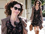 No raining on her parade! Minnie Driver wore a floral frock as she ran errands on a chilly Wednesday in West Hollywood, California