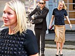 Quick change! Naomi Watts struts around in studded designer gear... then pulls on a woolly coat for the school run